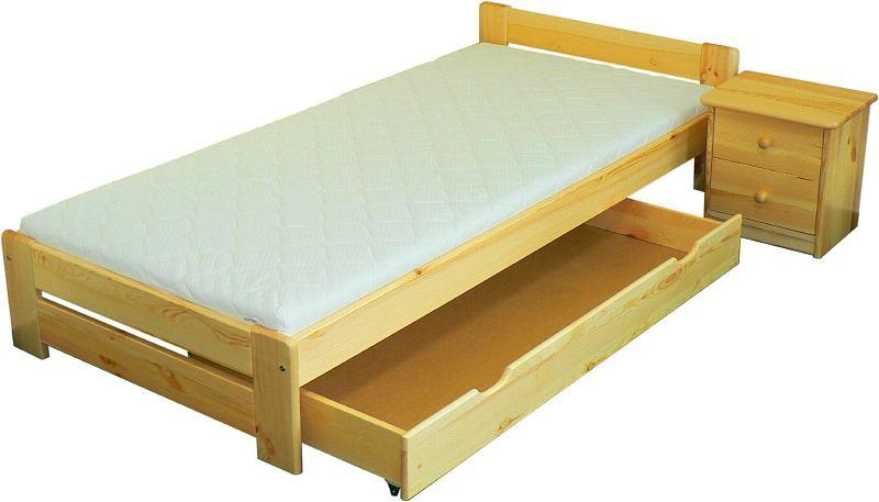 Šuplík k posteli MA-422 150x70x22 - borovice př.