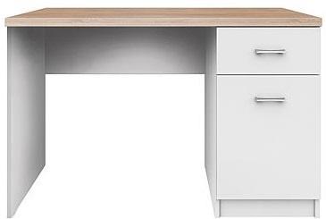 TOP MIX PC stůl 1D1S/120 dub sonoma/bílá